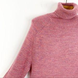 J CREW Blush Turtleneck Cozy Oversized Sweater S